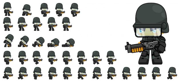 Soldier game sprites