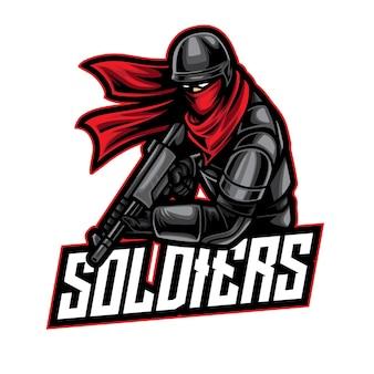 Soldier warrior esport logo