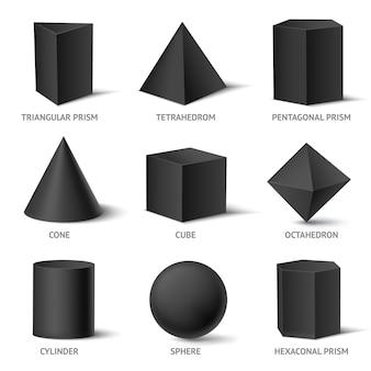 Solide geometrische vormen set