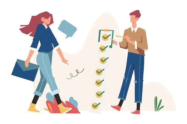 Sollicitatieformulier voor werk, mensen selecteren een cv voor een baan, wervingsbureau