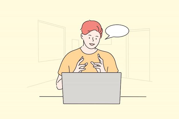 Sollicitatiegesprek, communicatie, zaken, wervingsconcept