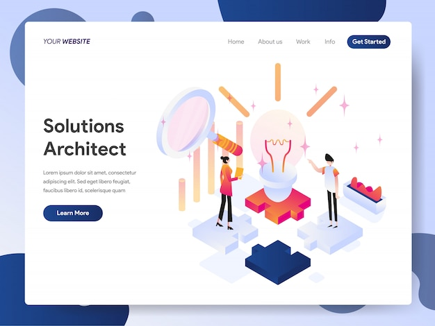 Solutions architect banner van bestemmingspagina