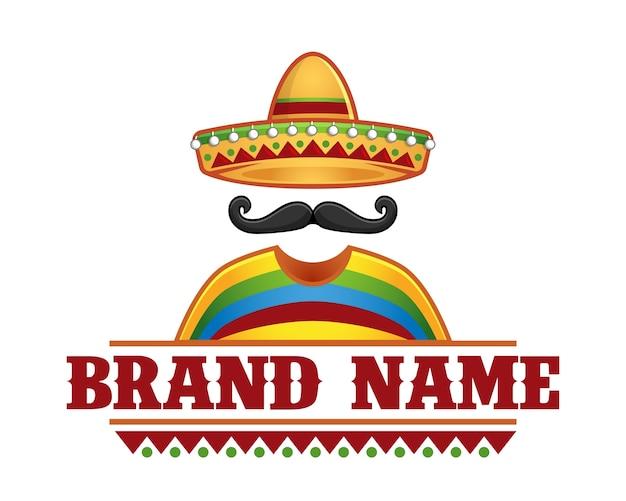Sombrero en snor restaurant logo