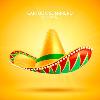 Sombrero hoed op geel