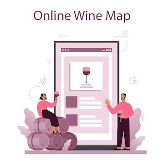 Sommelier online service of platform