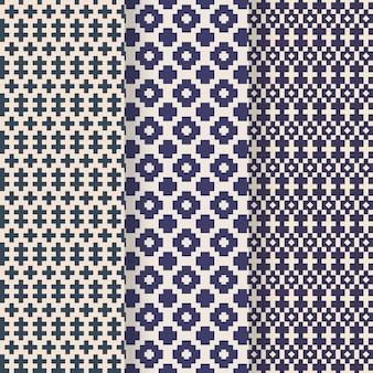 Songket decoratieve patrooncollectie