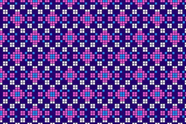 Songket naadloos patroon met traditioneel ontwerp