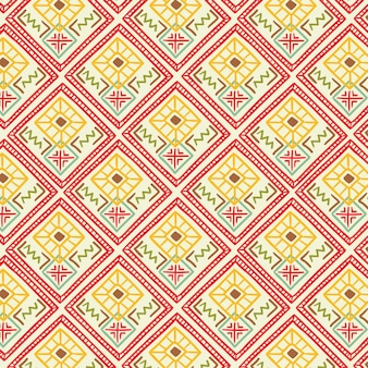 Songket-patroon met decoratieve vormen