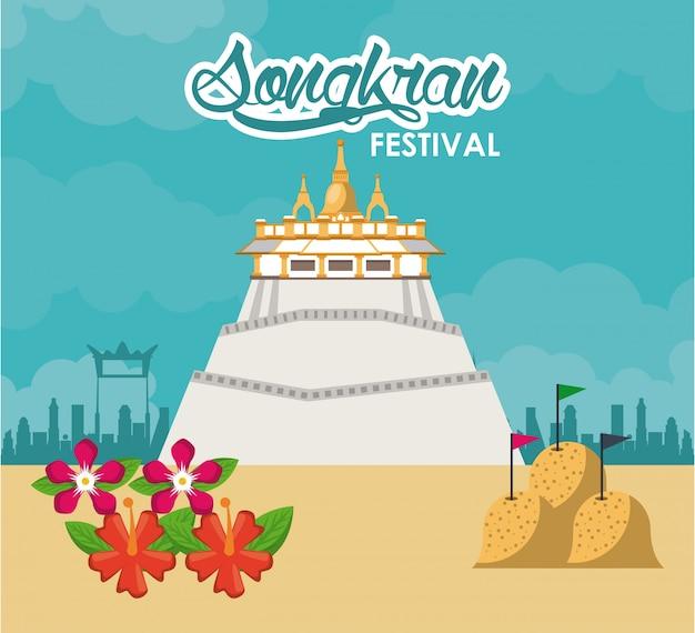 Songkran festivalontwerp