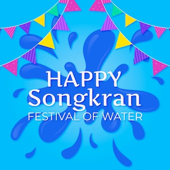 Songkran met waterpijp