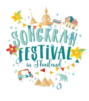 Songkranfestival in thailand van april