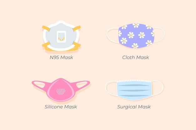 Soort gezichtsmasker collectie