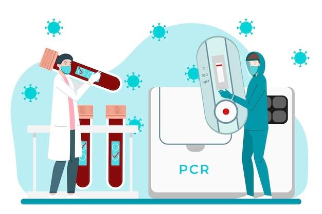 Soorten coronavirus snelle en pcr-tests