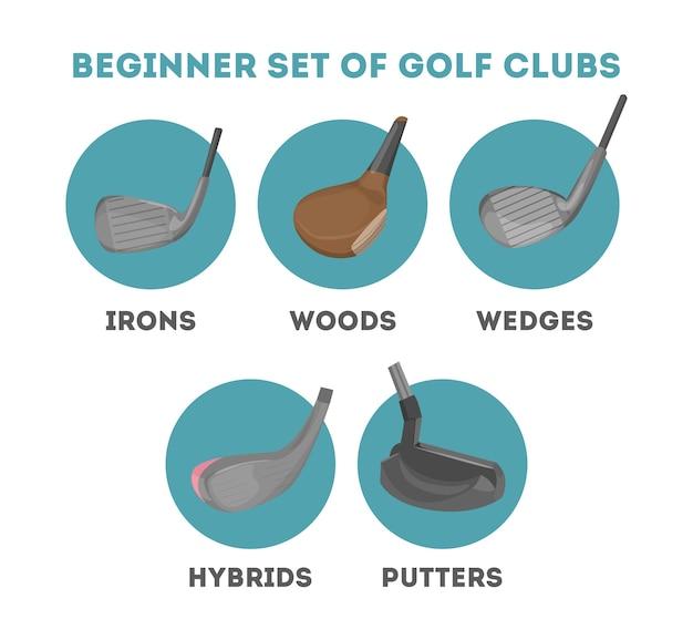 Soorten golfclubs voor een beginner
