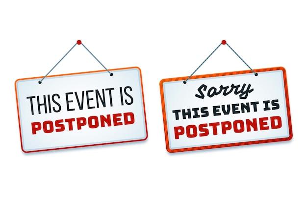 Sorry dit evenement is uitgesteld tekenen
