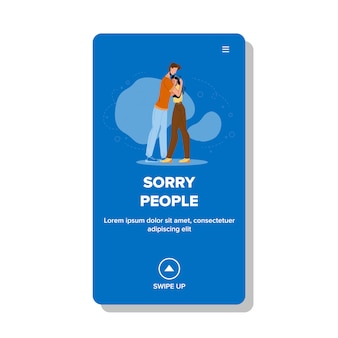Sorry mensen knuffelen strakke relatie