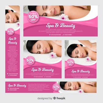 Spa banner collectie met foto