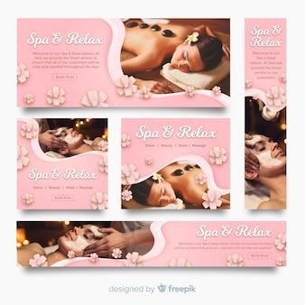 Spa banner collectie met foto