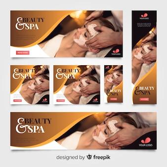 Spa banners collectie met foto