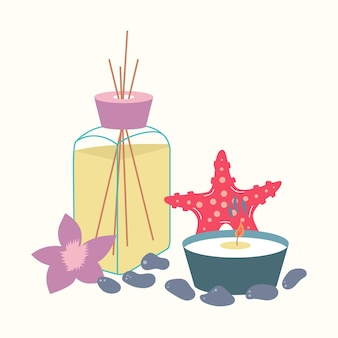 Spa-behandeling etherische olie aroma kaars