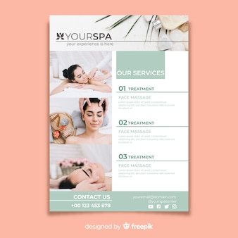 Spa brochure sjabloon met foto