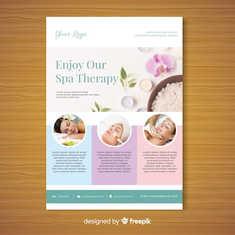 Spa brochure sjabloon