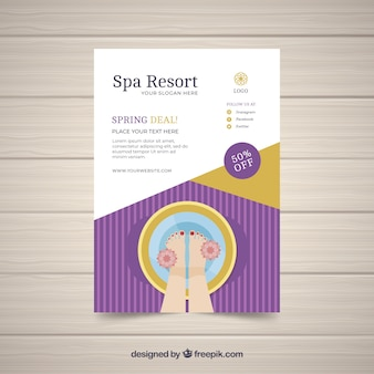 Spa center poster sjabloon