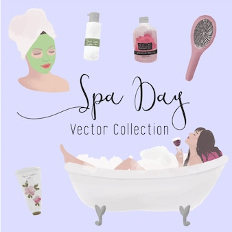 Spa dag vector collectie