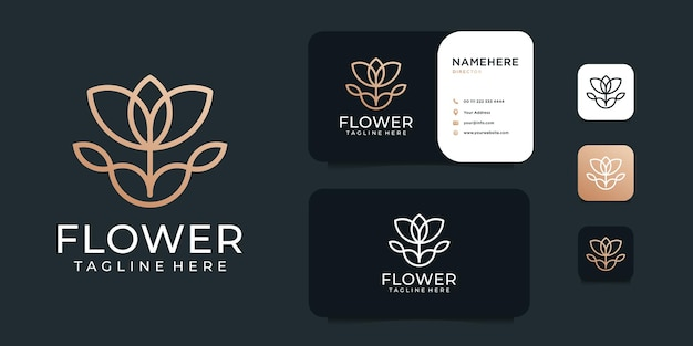 Spa decoratie vrouwelijke bloem logo ontwerpset collectie.