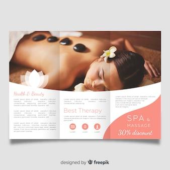 Spa driebladige brochure sjabloon