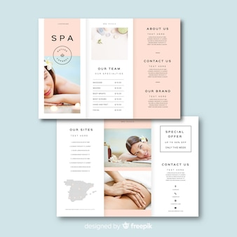 Spa driebladige brochuremalplaatje
