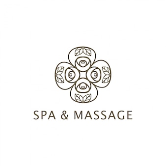 Spa en massage logo-ontwerp