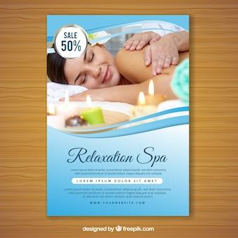 Spa-flyer met een foto
