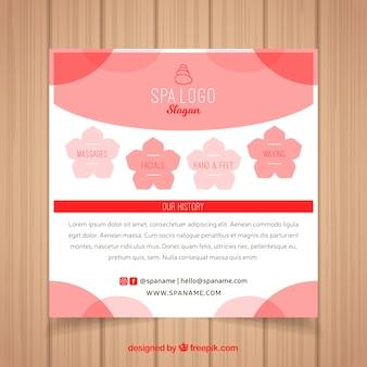 Spa flyer-sjabloon met elegante stijl