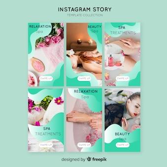 Spa instagram verhalen sjabloon