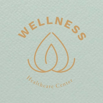 Spa logo sjabloon gezondheid en wellness business branding ontwerp vector