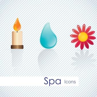 Spa pictogrammen over lichte achtergrond vectorillustratie