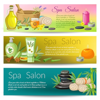 Spa salon banners collectie Gratis Vector