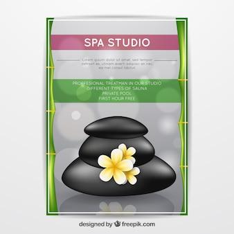 Spa studio poster in een realistisch ontwerp