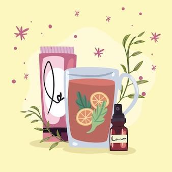 Spa thee met producten