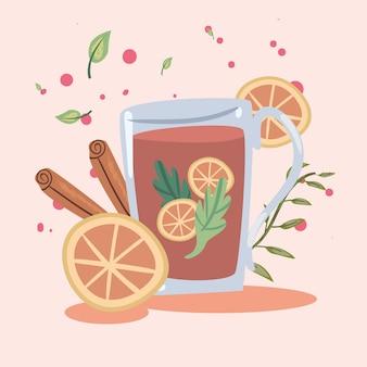 Spa-thee met sinaasappels