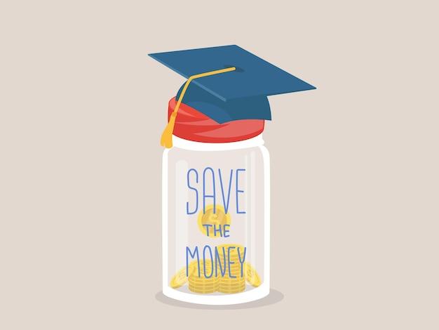 Spaar het geld voor onderwijs
