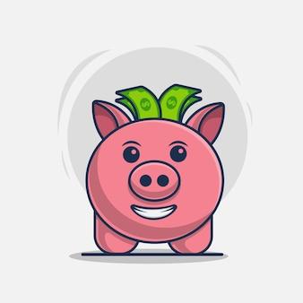Spaarvarken pictogram vectorillustratie