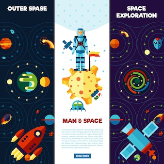 Space banners set