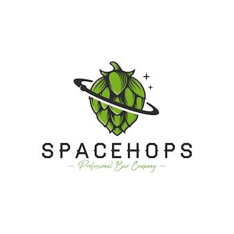 Space beer hop logo sjabloon