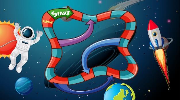 Space bordspel achtergrond