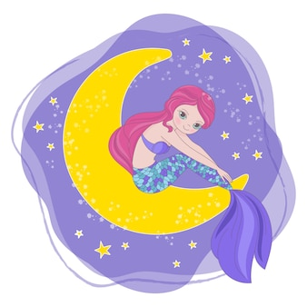Space cartoon princess