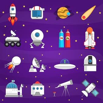 Space-elementen ingesteld