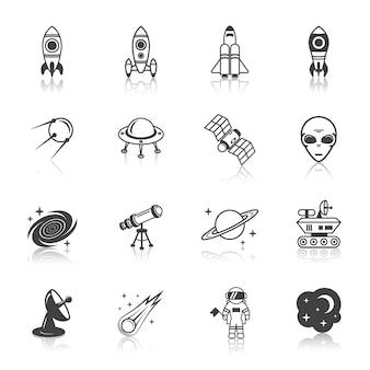 Space elementenpictogrammen
