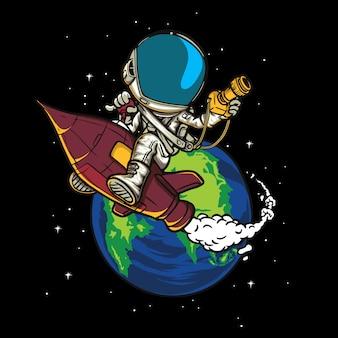 Space explorer astronauten illustratie